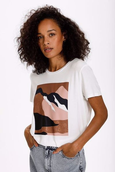 kaffe tshirt med print